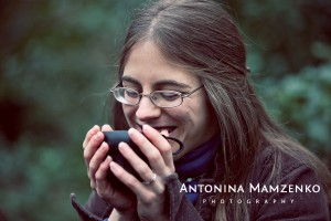Me drinking coffee - another photo from Antonina