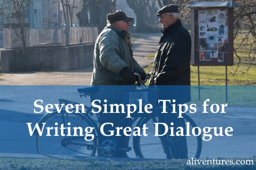 Seven Simple Tips for Writing Great Dialogue - image of men talking