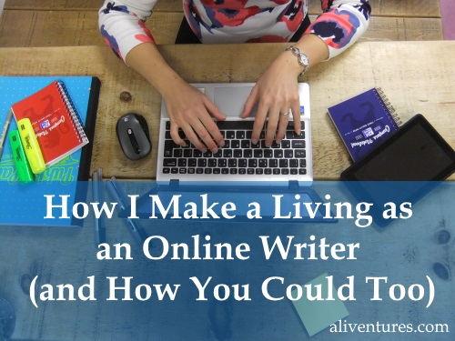 writing for a living online