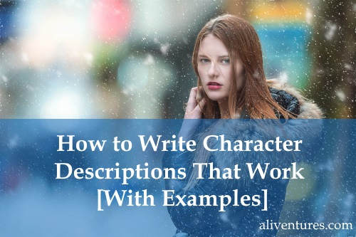 how to write about a character in a story