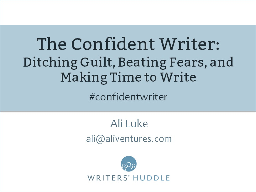 The Confident Writer Webinar: Thursday 27th April, 8pm – 9pm (UK time)