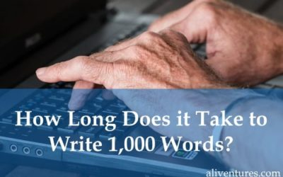 How Long Does it Take to Write 1,000 Words?