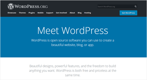 The WordPress website
