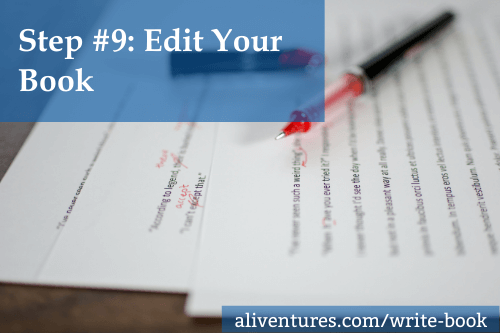 Step #9: Edit Your Book