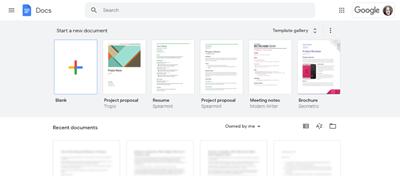 Image of Google Docs